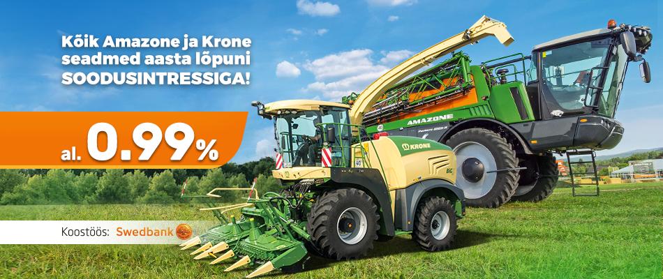 Amazone ja Krone al. 0,99%